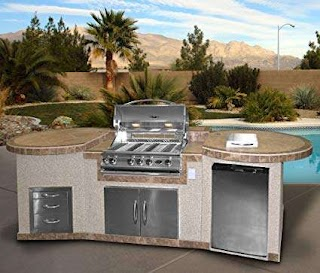 Cal Flame Outdoor Kitchen Amazoncom 3 Piece Island E3022 with 4