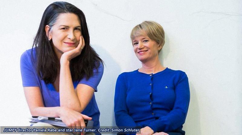 Jumpy director Pamela Rabe and star Jane Turner. Photo: Simon Schluter