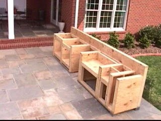 How to Build Outdoor Bbq Kitchen Cabinetcounter Ideas Pinterest