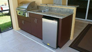 Weatherproof Outdoor Kitchen Cabinets Polymer Cabinetry in Southwest Florida