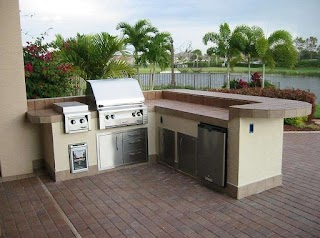 Bbq Outdoor Kitchen Kits S Good Prefab with Grill and Meat
