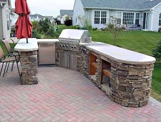 Making an Outdoor Kitchen Elegt D Traditional Home Design Garden