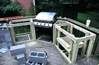Build Your Own Outdoor Kitchen How to an on a Deck Mycoffeepotorg
