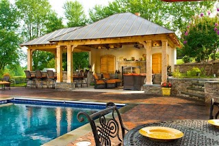 Outdoor Kitchen and Pool Covered Tedxoakville Home Blog Great