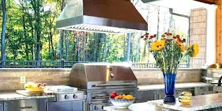 Outdoor Kitchen Exhaust Fans Island Vents White Brick With