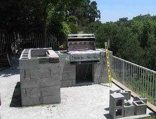 Block Outdoor Kitchen Cinder Plans Home Design Ideas Portable