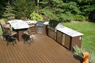 Outdoor Kitchen on a Deck Designing S Professil Builder