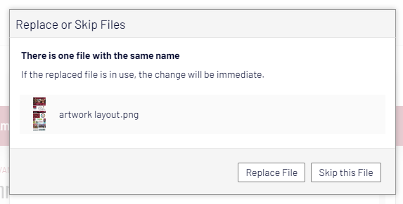 replace file