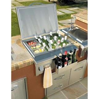 Outdoor Kitchen Ice Chest Stunning Built in Cooler
