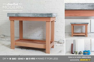 Build Your Own Outdoor Kitchen Island Homemade Modern Ep38 Wood Concrete