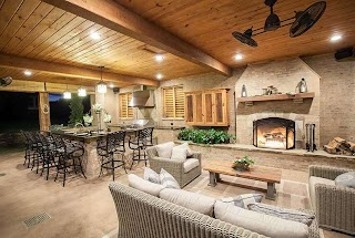 Outdoor Kitchens with Fireplace and Patios Champion Property Improvement