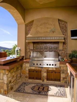 Italian Outdoor Kitchen Mediterranean Patio Los Angeles By
