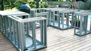 Outdoor Kitchen Metal Frame Build Steel Stud Framing for Building