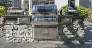 Unilock Outdoor Kitchens Patio Design Tips Integrating an Kitchen Into Your Long
