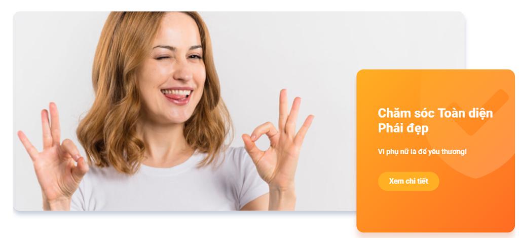 Hướng dẫn mua sản phẩm bảo hiểm Chăm sóc phái đẹp trên App LIAN