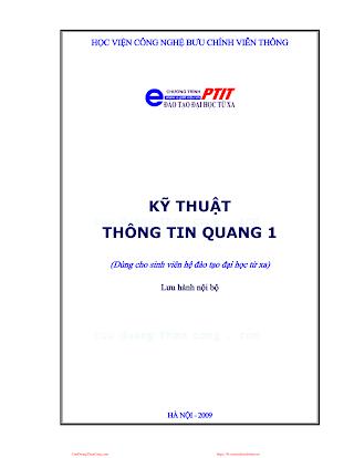 BCVT.Kỹ Thuật Thông Tin Quang 1 - Ts.Lê Quốc Cường, 198 Trang.pdf