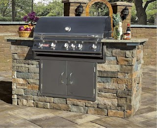 Outdoor Kitchen Stone Veneer Add to Your This Cambridge Grill Kit