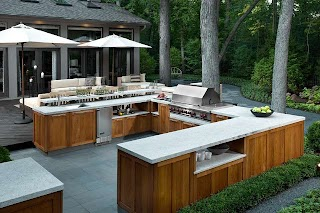 Outdoor Kitchen Chicago Contemporary Patio By Fredman Design
