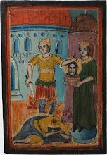 """Icoana """"Taierea capului Sf. Ioan Botezatorul"""""""