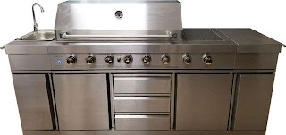 Stainless Steel Outdoor Bbq Kitchen 3 in 1 Island Grill Propane Lpg