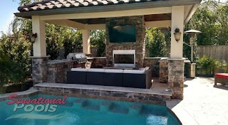 Outdoor Kitchen and Pool Living Construction S Patios More San Antonio Tx