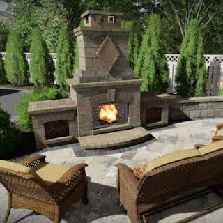 Outdoor Fireplace and Kitchen S Pizza Ovens