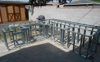 Outdoor Kitchen Metal Frame Exciting Dimensions Kitch Kits Premade Cal