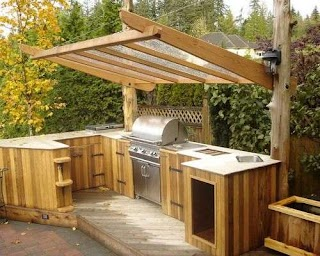 Cheap Outdoor Kitchen Ideas Great of Grill Patio