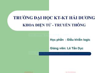 Slide.Điều Khiển Logic - Lê Tấn Dục, 126 Trang.pdf