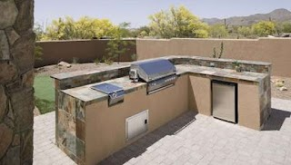 Cinder Block Outdoor Kitchen Steel Stud Vs Concrete for Framing Garden