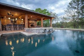 Outdoor Kitchen and Pool Backyard Lscaping Ideasswimming Design Swimming