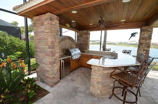 Outdoor Patio Kitchens Kitchen Cabinets Traditional Tampa By Davinci