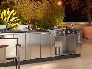 Weatherproof Outdoor Kitchen Cabinets Mesmerizing with Stainless