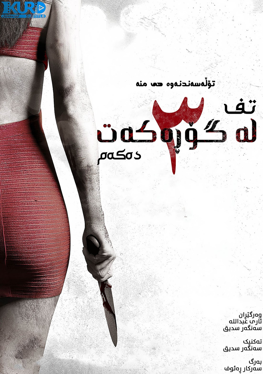 I Spit on Your Grave III: Vengeance is Mine kurdish poster
