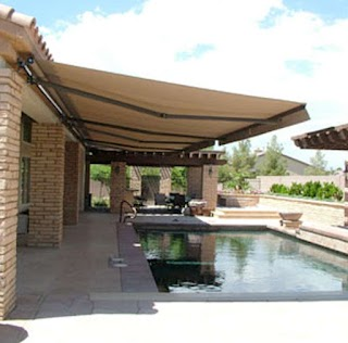 Paradise Outdoor Kitchens Custom Retractable Awning