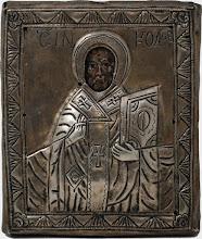 Icoana Sf. Nicolae, sec al XVII-lea, ferecatura Ag