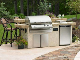 Outdoor Kitchen Grill Utilities in an Hgtv