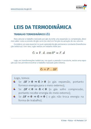 PRIMEIRA E SEGUNDA LEIS DA TERMODINÂMICA
