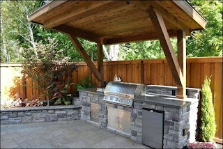 Outdoor Kitchen Structures Covered Design Ideas Covered