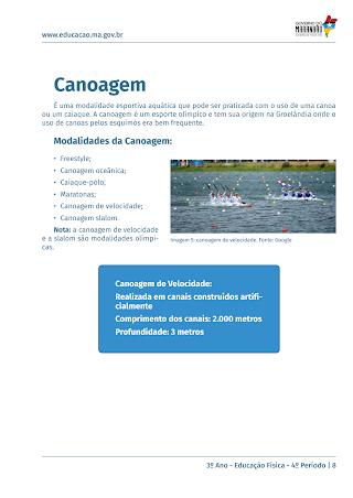 CANOAGEM – MODALIDADES