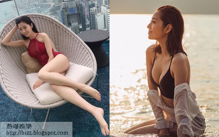 陳自瑤於社交網晒火辣泳照派福利!