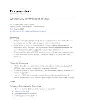 Wednesday committee meetings
