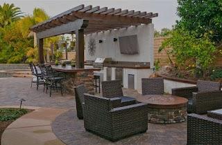 California Outdoor Kitchens Smartscapesundowner Estates Kitchen Firepit