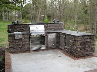 Stone Outdoor Kitchens Kitchen Remodeling Stratton Exteriors Nashville