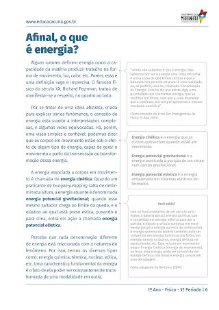 AFINAL O QUE É ENERGIA?/ TRANSFORMAÇÃO DE ENERGIA
