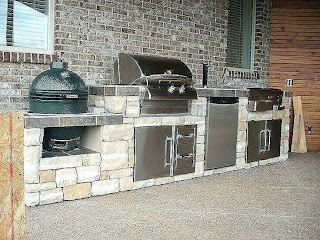Built in Smoker Outdoor Kitchen Allurg Drop Charcoal Grills for S Odoc