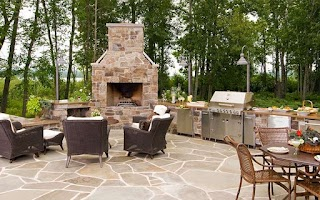 Outdoor Kitchen with Firepit S and Fire Pits Deckers Pondscapes Serving The