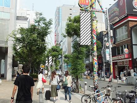 大阪・アメリカ村街灯フラッグ