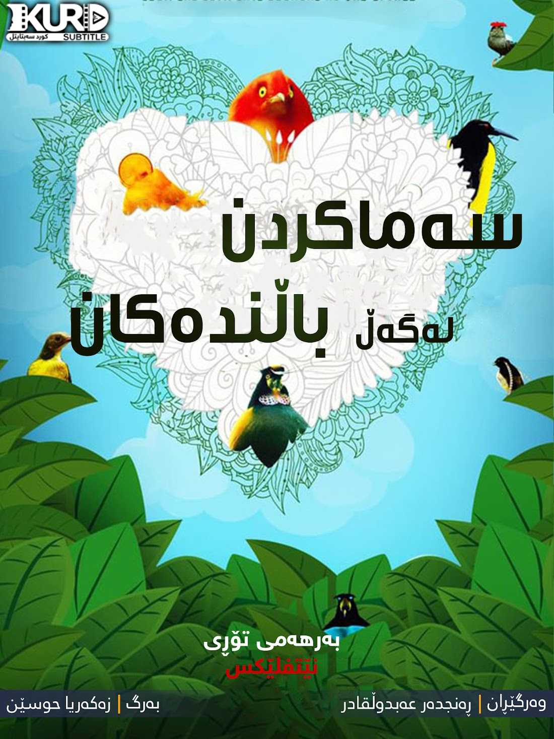 Dancing with the Birds kurdish poster