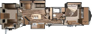 Fifth Wheel Campers with Bunkhouse and Outdoor Kitchen Open Range 3x 427bhs 42 Rear 5th Outside